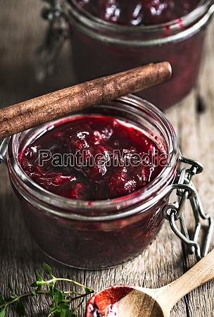 homemade roselle jam with cinnamon