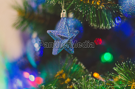 blue star christmas tree toy
