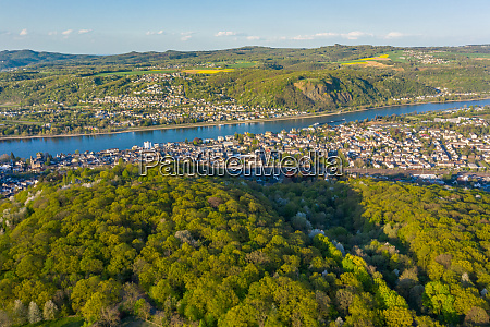 aerial view of the rhine valley