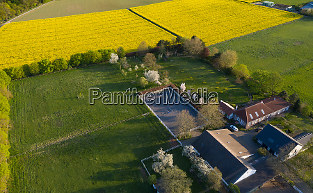 aerial view of the farm landscape