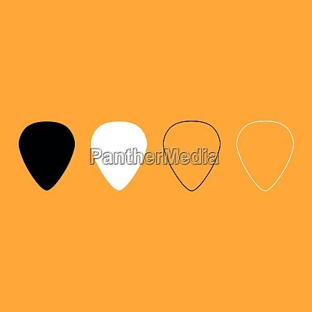 mediator for guitar black and white
