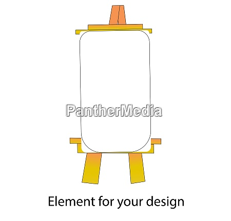 school supplies easel vector illustration isolated