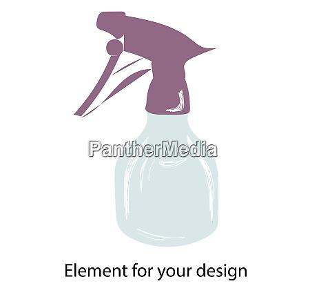 spray pulverizer spray vector illustration isolated
