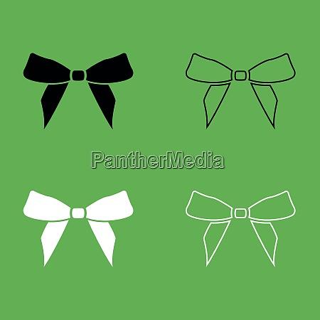 bow icon black and white