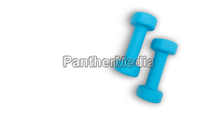 two blue dumbells 2 kg fitness