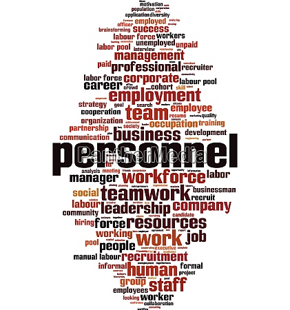 personnel word cloud