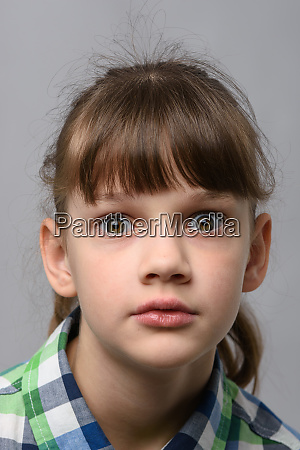 portrait of ten year old girl