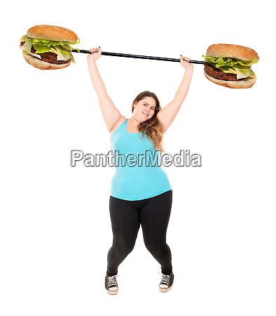 large girl fighting diet