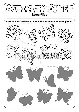 activity sheet butterflies 1