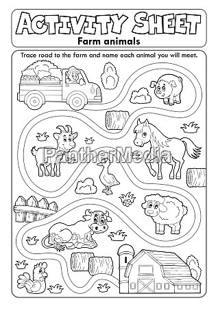 activity sheet farm animals 2