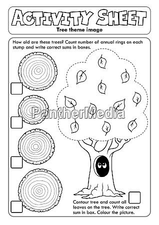 activity sheet tree theme 1