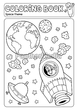 coloring book space theme 3