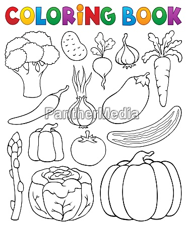 coloring book vegetable collection 1