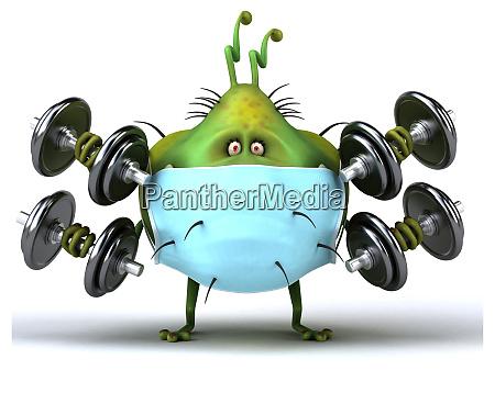 3d illustration of a monster bug