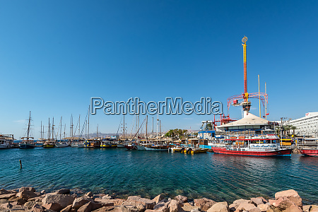 boats and spiral park in eilat