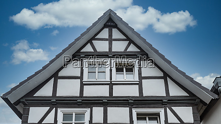house gable of a half timbered