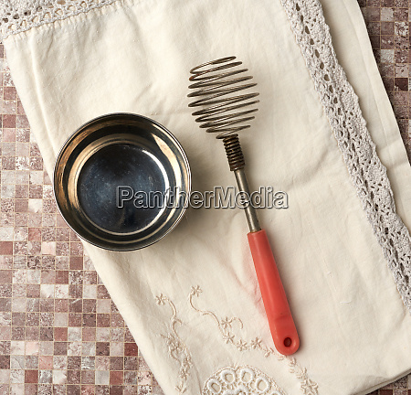 vintage iron whisk for whipping food
