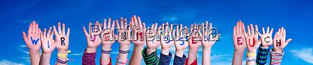 children hands building word wir vermissen