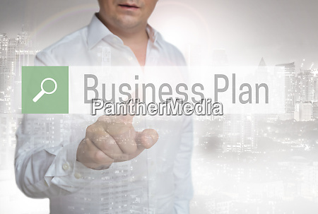 businessplan browser touchscreen is operated by