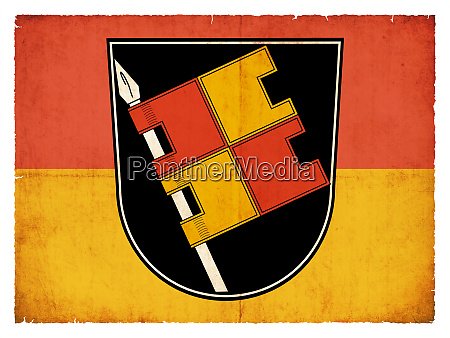 grunge flag of wuerzburg bavaria germany