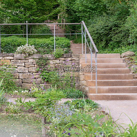 stone wall and stairs