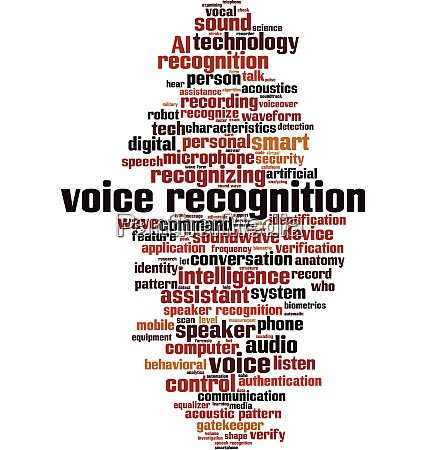 voice recognition word cloud
