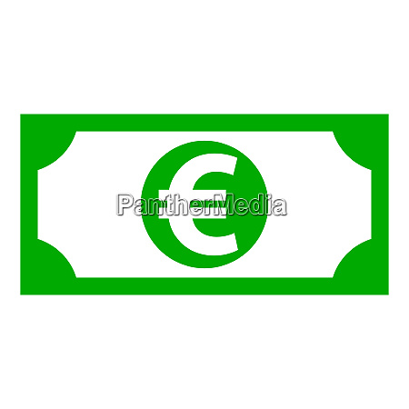 euro and banknote