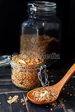 homemade granola with coconut