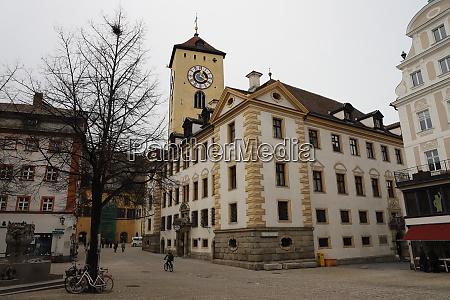 germany regensburg february 01 2019 kohlenmarkt
