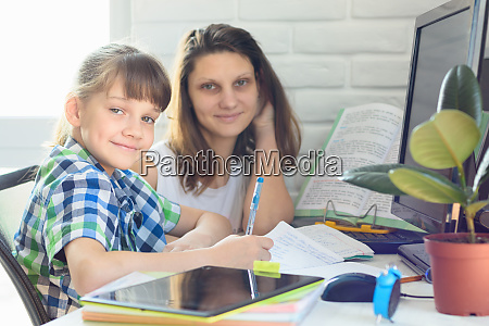 tutor helps the student with homework