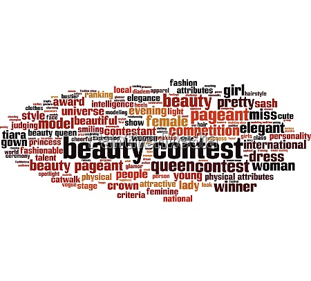 beauty contest word cloud