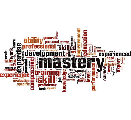 mastery word cloud