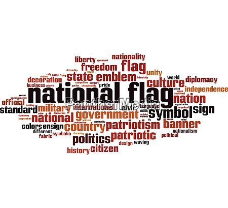 national flag word cloud