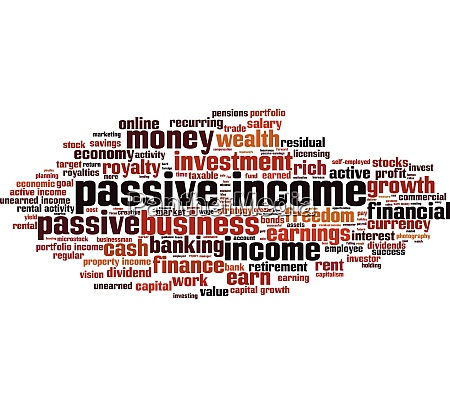 passive income word cloud