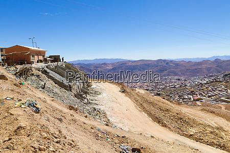 potosi aerial view bolivia