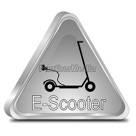 silver e scooter button 3d