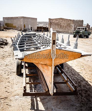 abandoned fishing village in ras al