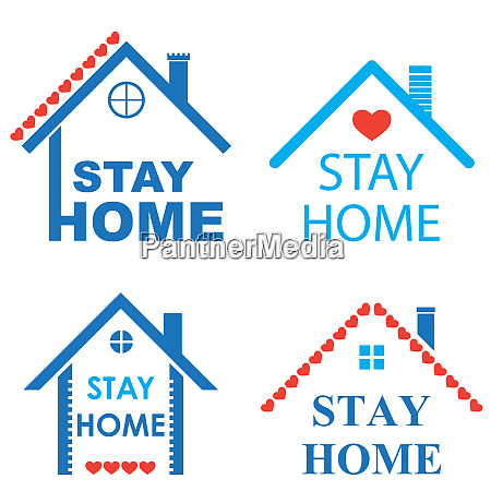 house roof with heart and stay