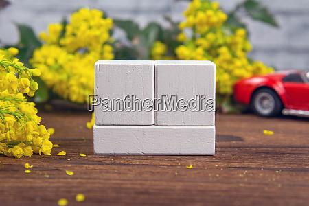 white wood calendar blocks for write