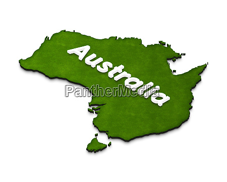 map of australia 3d isometric illustration