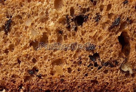 texture of baked brown nut cake