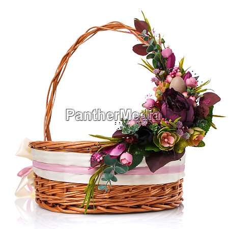 provence easter floral arrangement on a