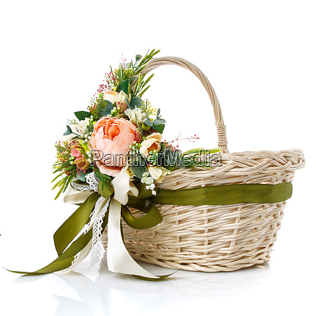 handmade easter basket in provence style
