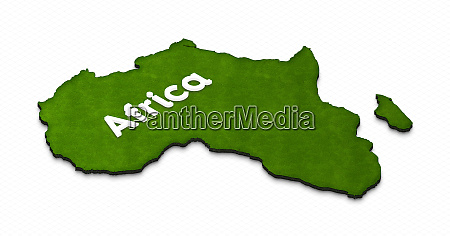 map of africa 3d isometric illustration