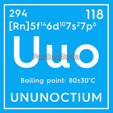 ununoctium noble gases chemical element of