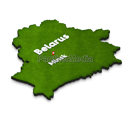 map of belarus 3d isometric perspective