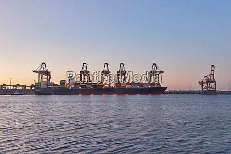 huge container ship