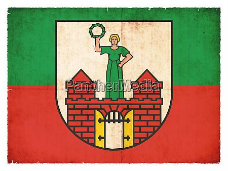 grunge flag of magdeburg saxony anhalt