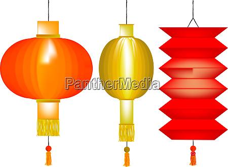 3 chinese lanterns