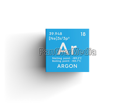 argon noble gases chemical element of